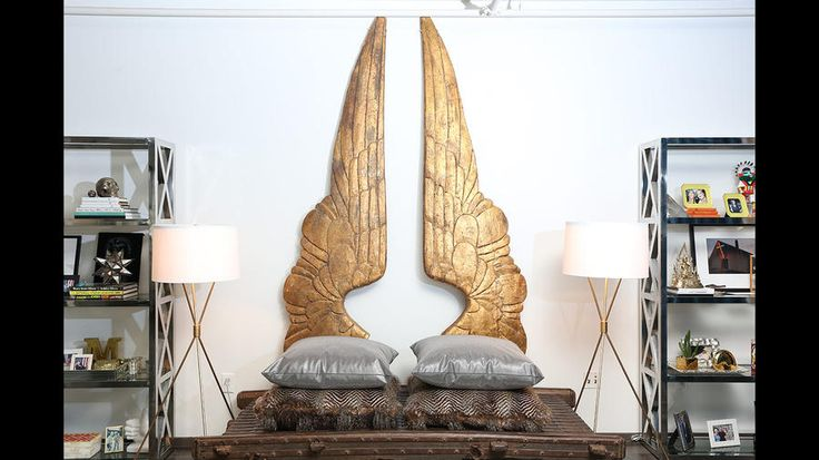 Meghan McCain's condo L.A. Times I love the carved wings!