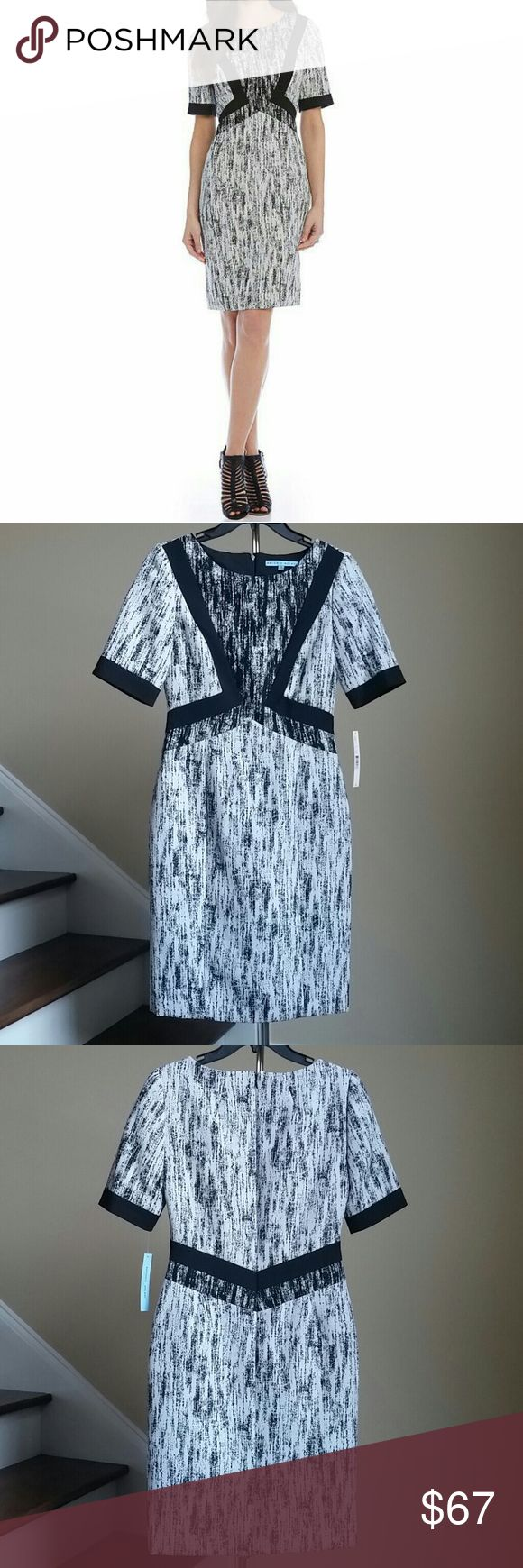 30% OFF BUNDLES BEAUTIFUL ANTONIO MELANI DRESS Beautiful sheath dress from Antonio Melani. Features short sleeves, concealed back zipper closure, lined. Shell and lining100% Polyester. Combo: 53%Cotton, 44%Polyester, 3% Elastane. Bundle discount does not apply to items marked on sale! ANTONIO MELANI Dresses