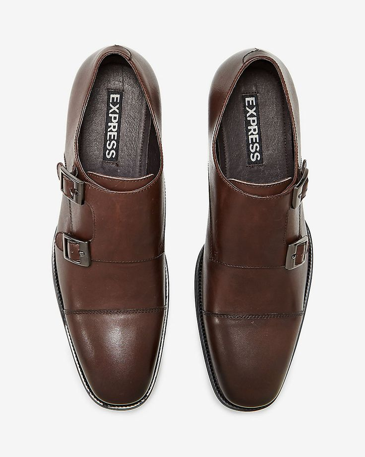 leather monk strap dress shoe