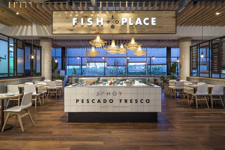 Fish Place restaurant by Studio Felipe Villaveces Bogotá  Colombia