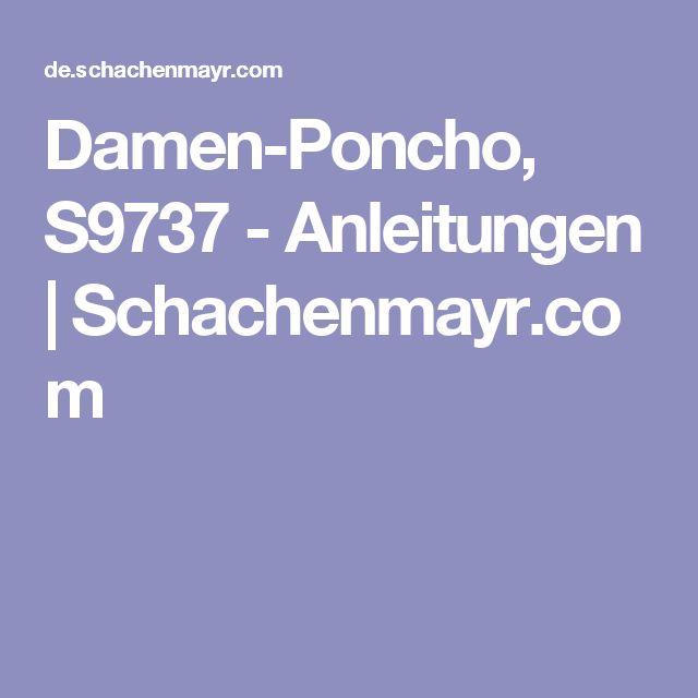 Damen-Poncho, S9737 - Anleitungen | Schachenmayr.com