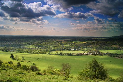 Looking over the North Downs from Box Hill, Surrey