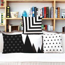 Pequeño Punto de Rayas 3D Cojín sin interior Home Decor Sofá Asiento de Coche Funda de almohada Decorativa Tiro almofada cojines(China (Mainland))