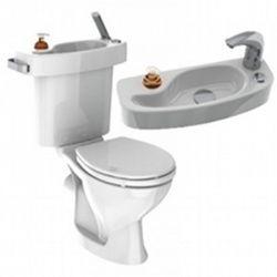 17 best ideas about lave main wc on pinterest deco wc - Toilette avec lave main integre castorama ...