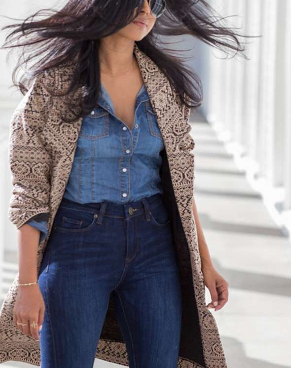 Ladies in relaxed offices, a trendy double denim look might be your speed. Then, you can shake it up... - Walk in Wonderland
