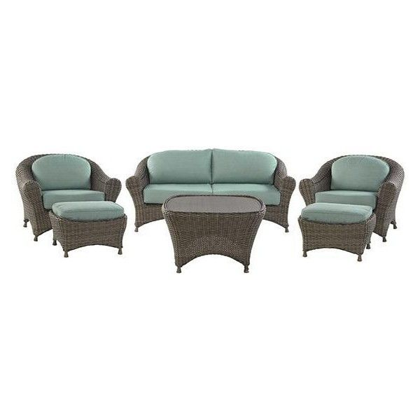 Martha Stewart Living? Lake Adela Six-Piece Seating Set ($1,699) ❤ liked on Polyvore featuring home, outdoors, patio furniture, outdoor love seat, outdoor garden furniture, outdoor seating sets, home decorators collection and outdoor patio furniture