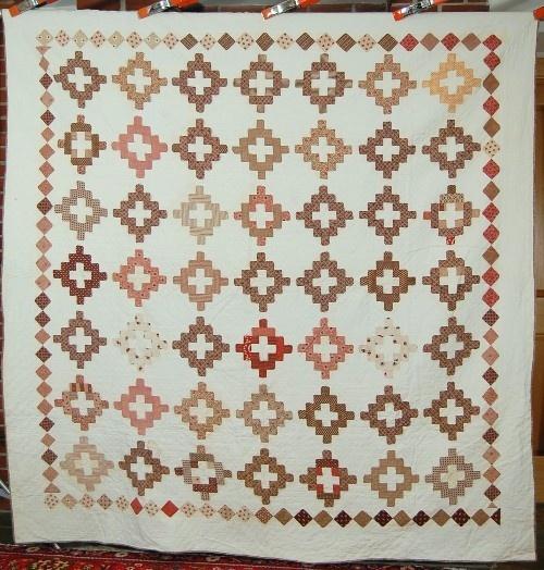 EARLY 1860's Vintage Album Patch Chimney Sweep Antique Quilt ~DIAMOND BORDER! | eBay
