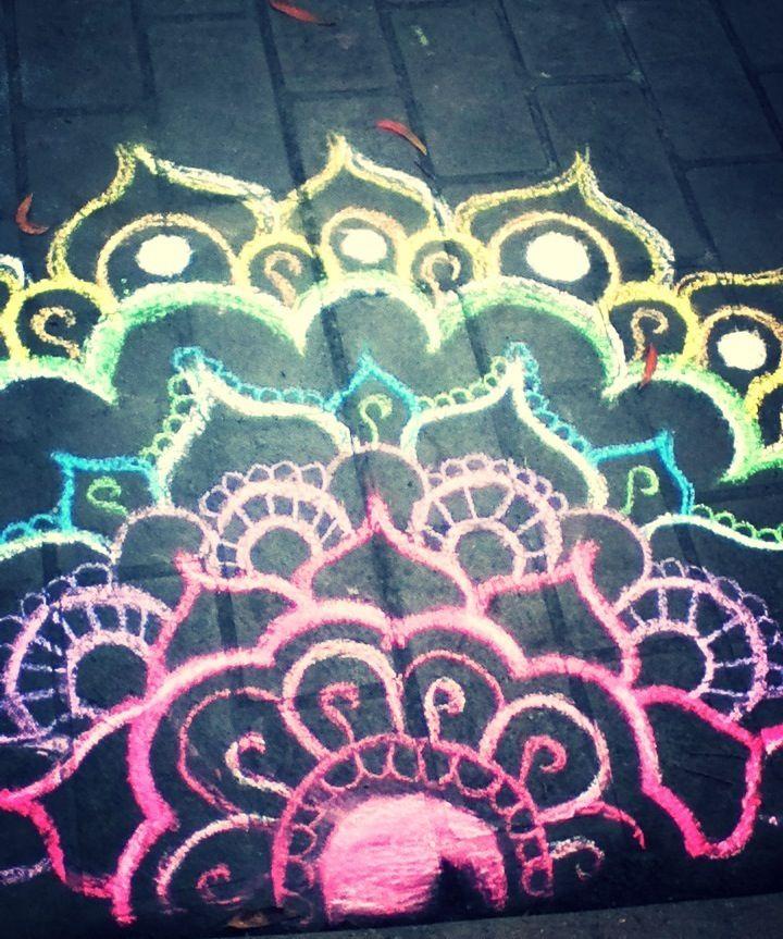 Jorja's chalk designs