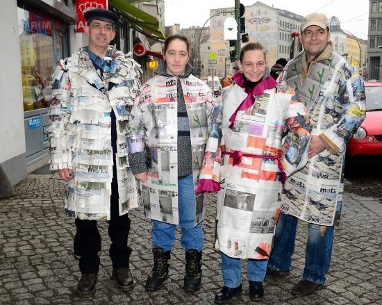 Geri dönüşüm... Gazete modası