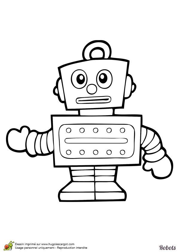 Coloriage robot tirelire omalov nky pinterest - Tirelire dessin ...