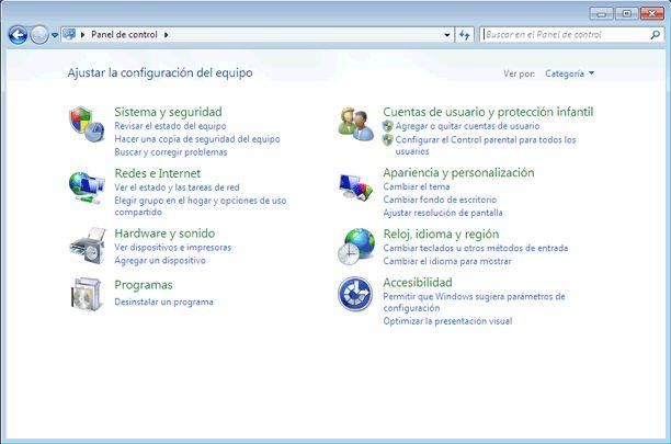 Qué es el Panel de control de Windows 7 y qué hay en él: Qué es el Panel de control de Windows 7