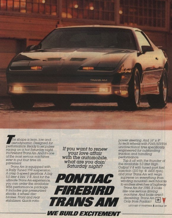 old 1985 trans am ad