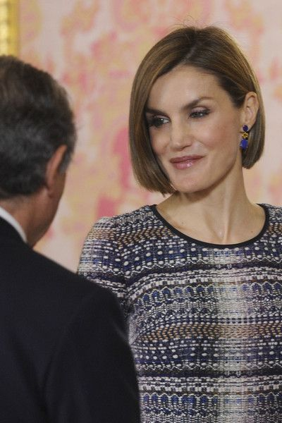 Queen Letizia of Spain Photos: King Felipe VI of Spain Host a Lunch For President of Egypt in Madrid