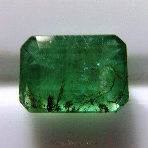 Natural Emerald 1.55 carat, Potongan Oktagon 8mm x 6mm