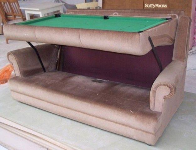"""Un """"biliardo-divano"""" ?  Meglio i nostri biliardi-tavolo :-) http://www.biliardietrusco.com/prodotti/"""