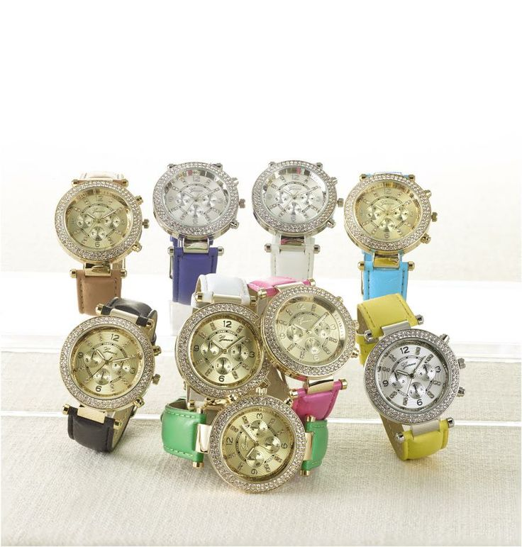 #Crystal hinge strap #watches. #SteinMart