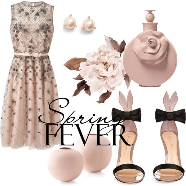 #springscent by fineid on Polyvore featuring moda, Valentino, Gianvito Rossi, Kate Spade and springscent
