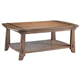 Ash And Poplar Coffee Table With Metal Banding And Nailhead Details Product Coffee Table