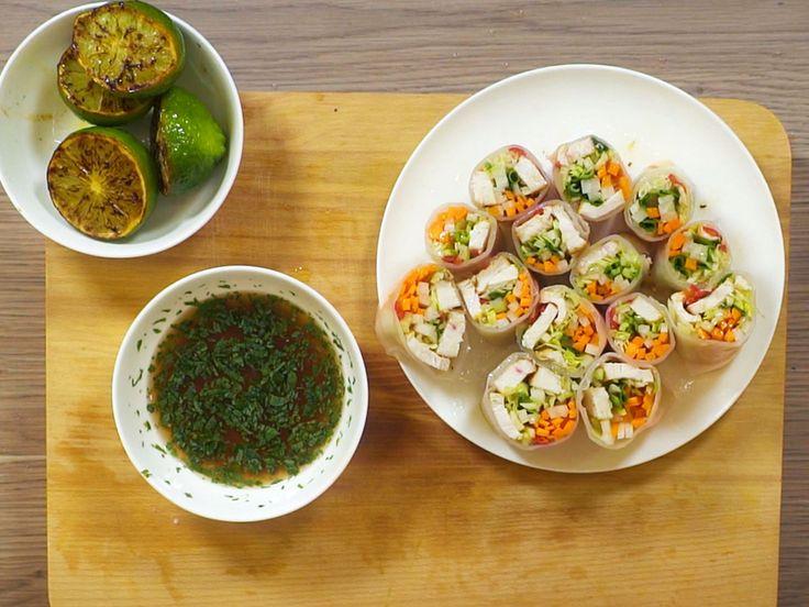 Färska vårrullar med sötsyrlig dipp | Recept från Köket.se