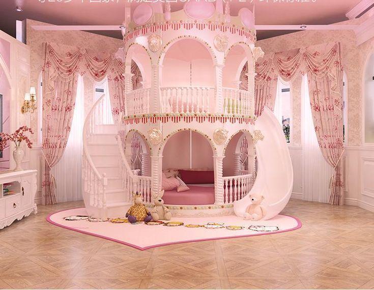 Schlafzimmer Prinzessin Madchen Rutsche Kinderbett Schone
