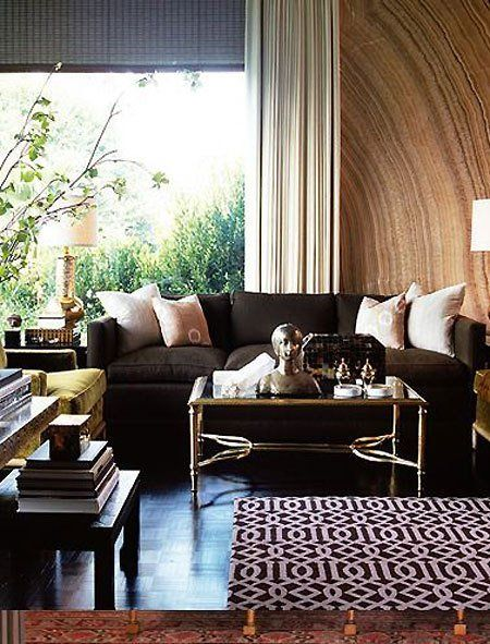 Cozy Color Combo: Chocolate Brown and Metallic Gold | Apartment Therapy