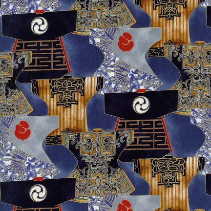 Robert Kaufman Fabrics: EUM-5279-2 INDIGO from Oriental Traditions 3