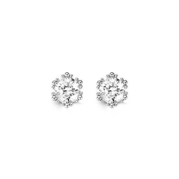 Srebrne #kolczyki z kryształami. #earings #crystal #cristal www.terpilowski.com.pl