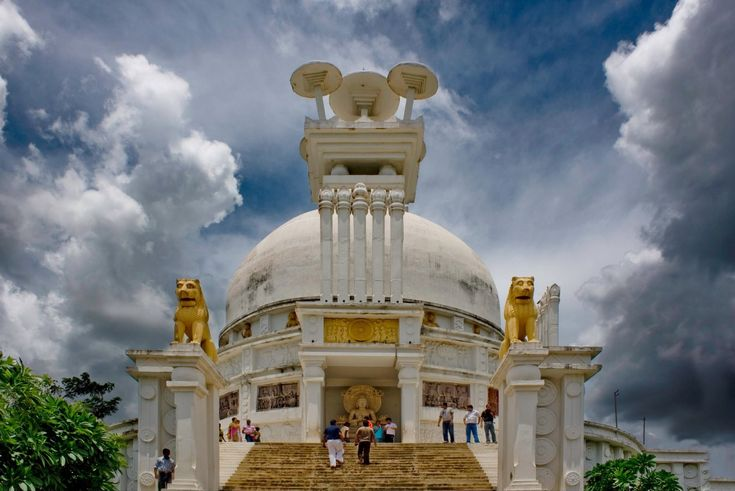 The Stupa at Dhauli, the site where Battle of Kalinga was fought.