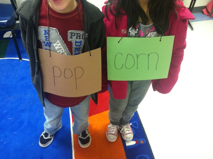 Compound word hunt.. Each student wears a word and then they walk around the room looking for a student with a word to pair up with their word to make a compound word. I use this activity with my special Ed students that need to be up moving around.