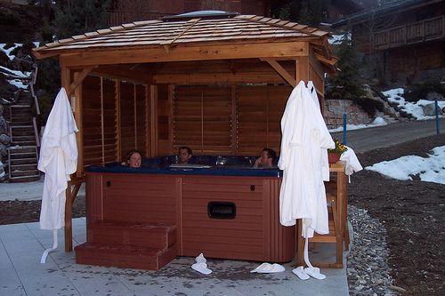 1000 images about hot hot hot tub on pinterest for Hot tub shelters