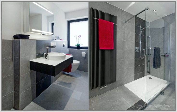 Anthrazit Bad Mit Mosaik Interior Design 2015 Badezimmer ...
