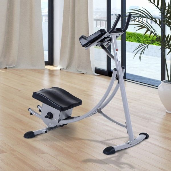 Máquina de fitness para hacer abdominales con facilidad. Puedes hacer ejercicio cómodamente en casa, en tu tiempo libre. Es un movimiento muy natural, sin forzar la espalda podrás trabajar toda la musculatura abdominal. Es un método nuevo para trabajar tu zona abdominal. Medidas: 130x70x125cm. Puedes comprarlo online en https://www.aosom.es/deportes/maquina-abdominales-glider-gimnasia-fitness-130x70x125cm-ejercicio-gimnasio-nue.html con envíos gratis a España y Portugal en 24h/48h.