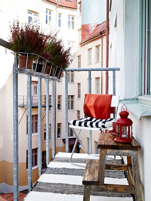 55 Super cool and breezy small balcony design ideas... not quite landscaping, but it's apart of the personal touch. :)