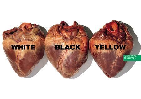 A Benetton anti-racism advert, 1996.