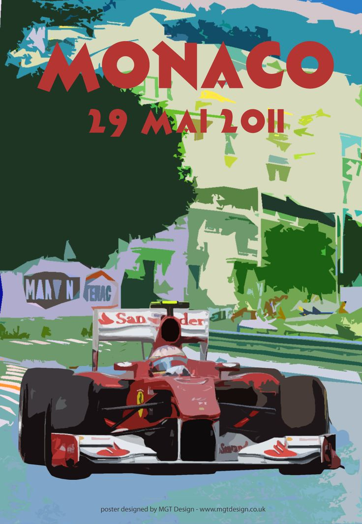 mgt designWe love the design of these Monaco posters we put together a 2011 Monaco Grand Prix Poster in the style of the 1930s Posters by George Ham, please click the image for the enlarged version.