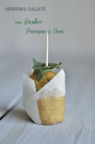 Cucina Scacciapensieri: Muffins salati con pesto di basilico e noci