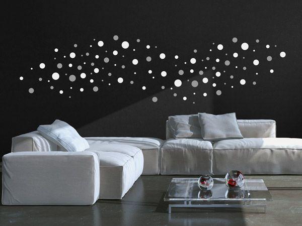 die besten 25 wandtattoo punkte ideen auf pinterest. Black Bedroom Furniture Sets. Home Design Ideas