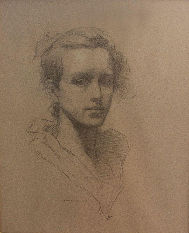 Francisco Verde, Marguerita (Estudio para retrato), Carboncillo sobre papel
