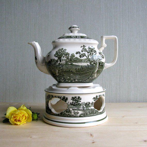 Villeroy Boch Rusticana Green Tea Pot With Warmer Large