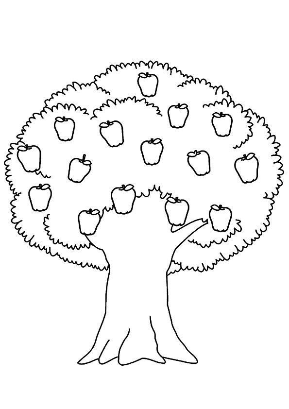 Apple Tree Coloring Page Parentune Free Printable Simple Trees Coloring Pages In 2020 Tree Coloring Page Apple Coloring Pages Flower Coloring Pages