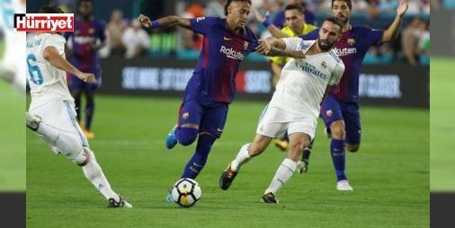 Muhteşem gol düellosu! #ElClasico'da kazanan Barcelona...: Real Madrid ile Barcelona Amerika'da Uluslararası Şampiyonlar Kupası'nda kozlarını paylaştı. Dev mücadelede Barcelona, Real Madrid'i 3-2 mağlup etti.