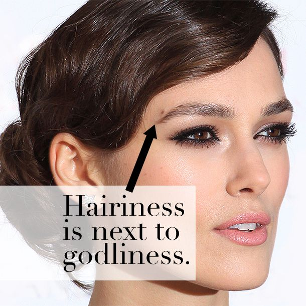 The 10 Eyebrow Commandments | Your eyebrows are made of hairs. They shouldn't look like one flat shape. They should look, well, hairy. #eyebrows