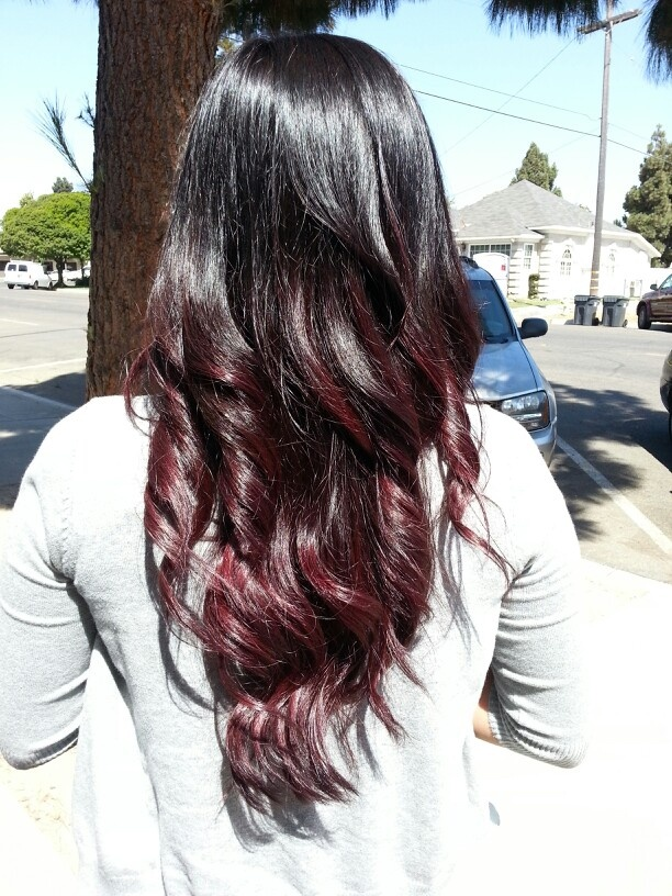to burgundy ombre: Dark Brown To Burgundy Ombre, Hairstyles Haircolor ...