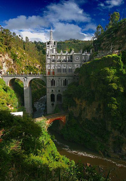 Las Lajas Sanctuary, Potosí, Narino, Colombia by ©haddock, via Flickr