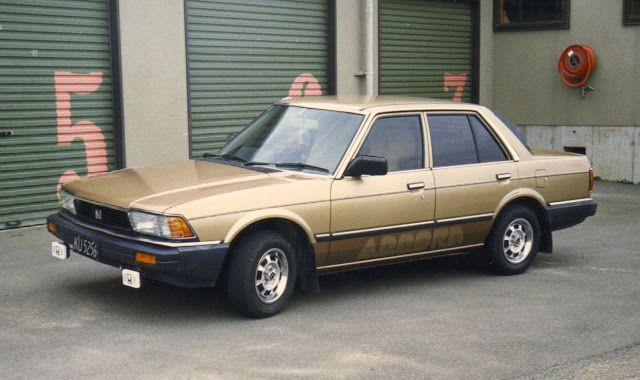 1983 Honda Accord LX, with the full 80's treatment - tinted windows, spotlights, louvres, sheepskin seast covers and two tone paint. Owned 4 years.