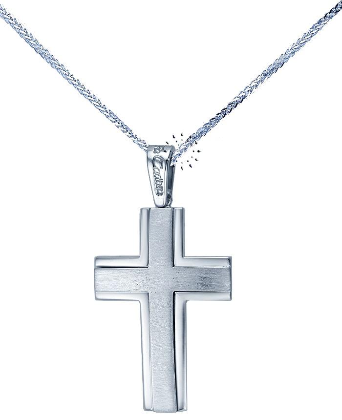 Σταυρός 14 Καράτια Λευκόχρυσο της FaCaDoro  565€  http://www.kosmima.gr/product_info.php?products_id=12505
