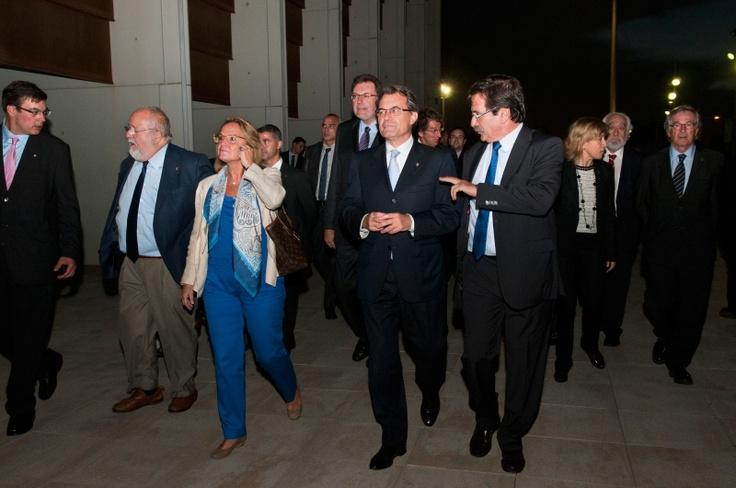 Artur Mas arribant al Pabelló de la Mar Bella - Barcelona - Inauguració dia 11