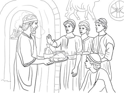 Daniel And His Friends Refuse The Kings Food Daniel 1