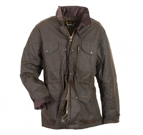 Grey Fox showing the Barbour(R) Sapper wax jacket.  Nice.
