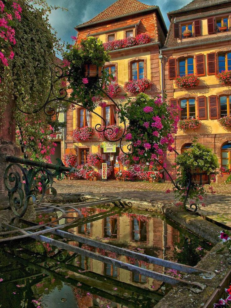 Bergheim Alsace France Vive La France Pinterest: colmar beauty and the beast